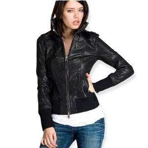 Mackage For Aritzia Leather Bomber